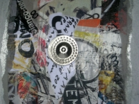 Decorazione collage su platica