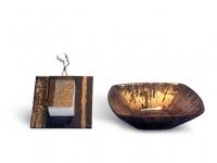 Decorazione su vetro e perspex